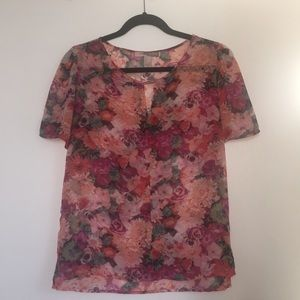 Forever 21 Contemporary Floral Top, Size S
